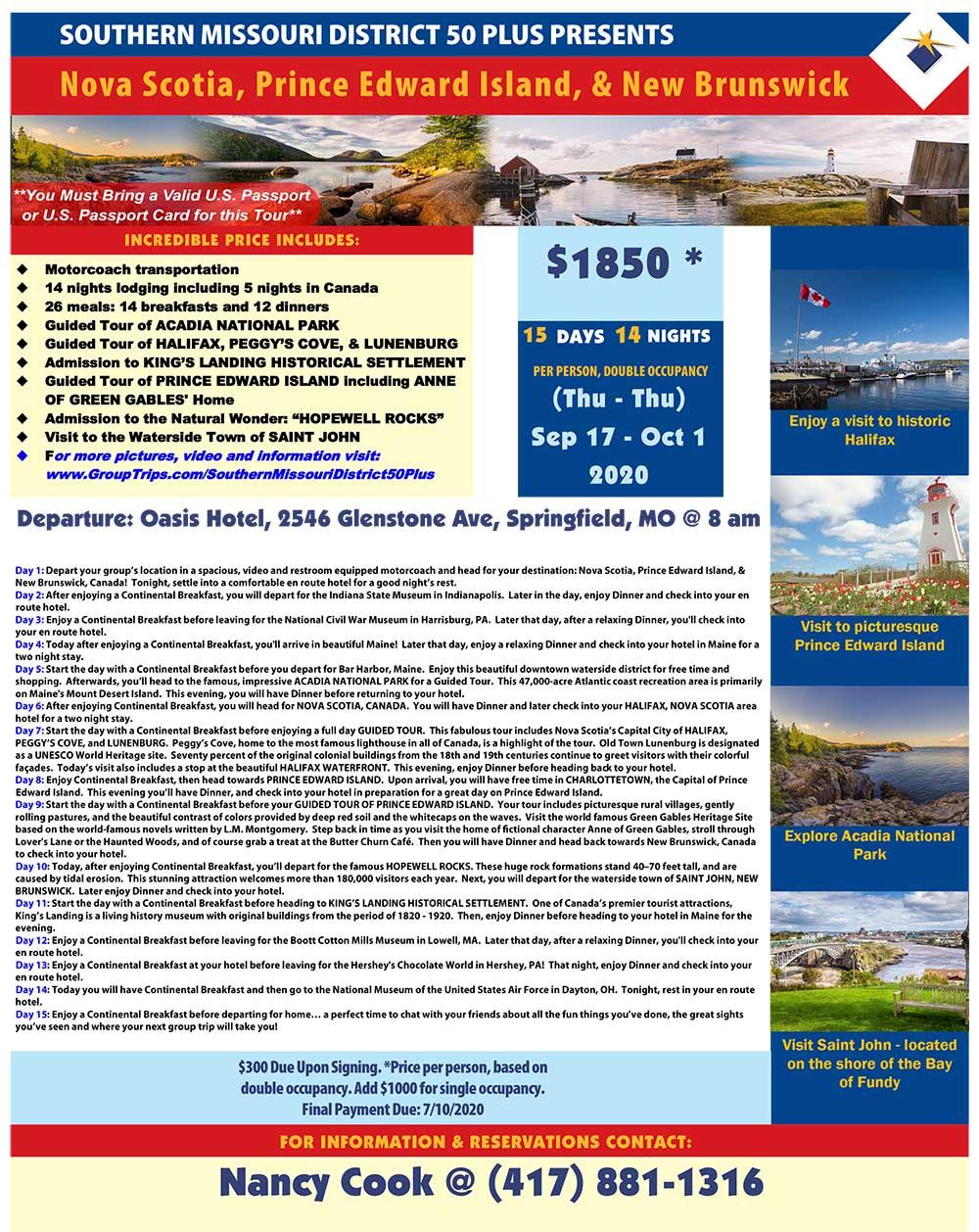 Canada East Coast Trip 2020