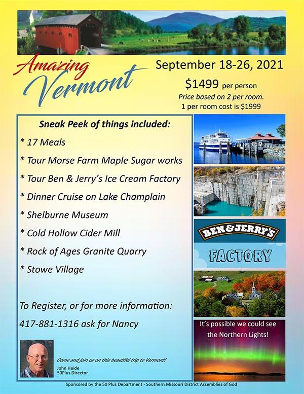 Amazing Vermont Trip